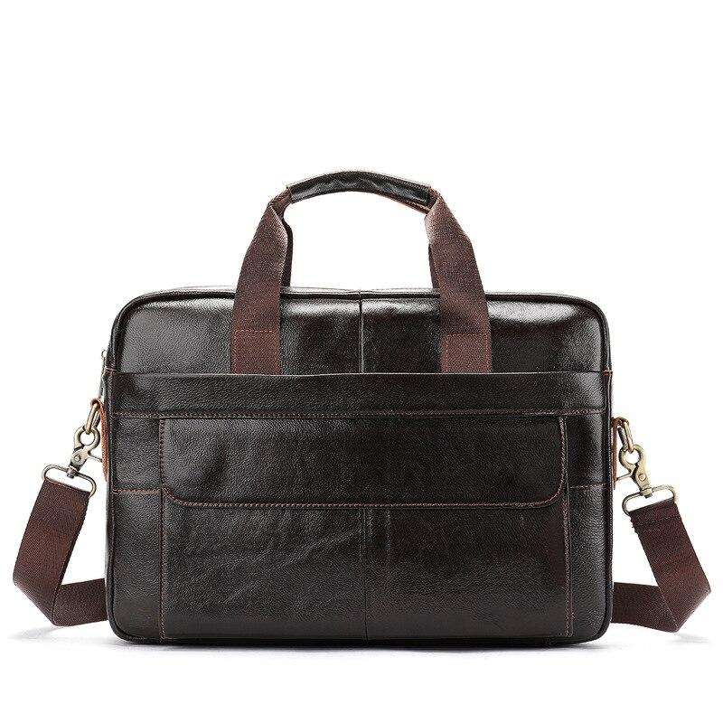 14 Zoll Männer Echtes Leder Aktentasche Kuh Leder Herren Schulter Tasche Solide Weiche Laptop Aktentasche Tasche Handtasche Für Busniess Heißer Hohe QualitäT Und Geringer Aufwand