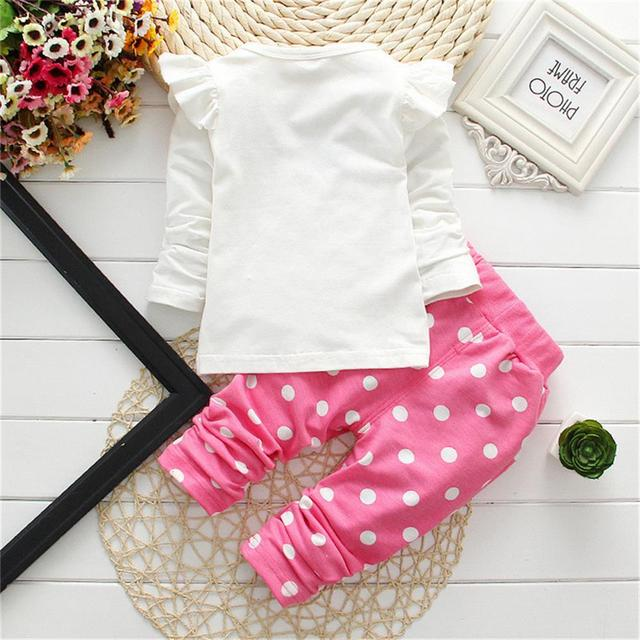 baby girl long sleeve cotton cartoon casual suits
