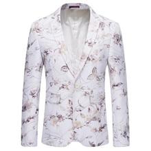 Suit jacket British style mens fashion boutique suit color fabric large size S-6XL single button banquet fancy blazer