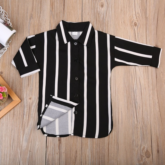 ילדה חורף בגדי תינוק בנות פסים חולצה תינוק ארוך שרוול חולצות מקרית שמלת טי למעלה בגדי תלבושת