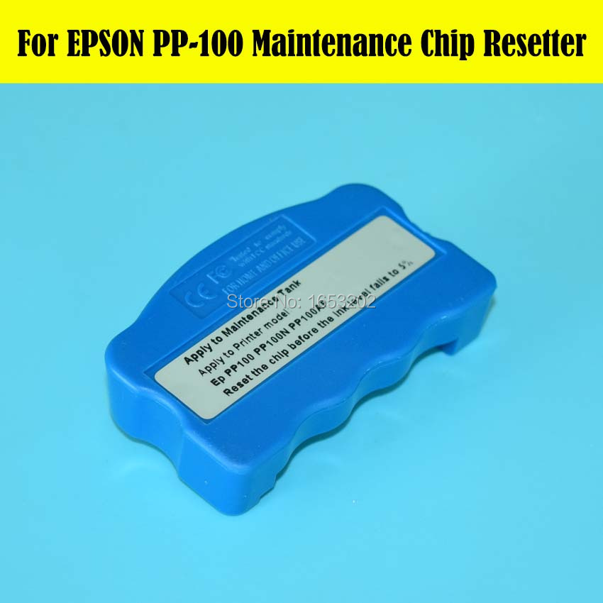 HOT 1 PC Maintenance Tank Chip Resetter For Epson PP100 PP100II PP-100II PP100N PP100AP PP-100N PP-100AP Printer Waste Ink Tank original new waste ink tank with chip for epson 3800 3800c 3850 3880 3885 3890 printer for epson 3800 maintenance waste tank