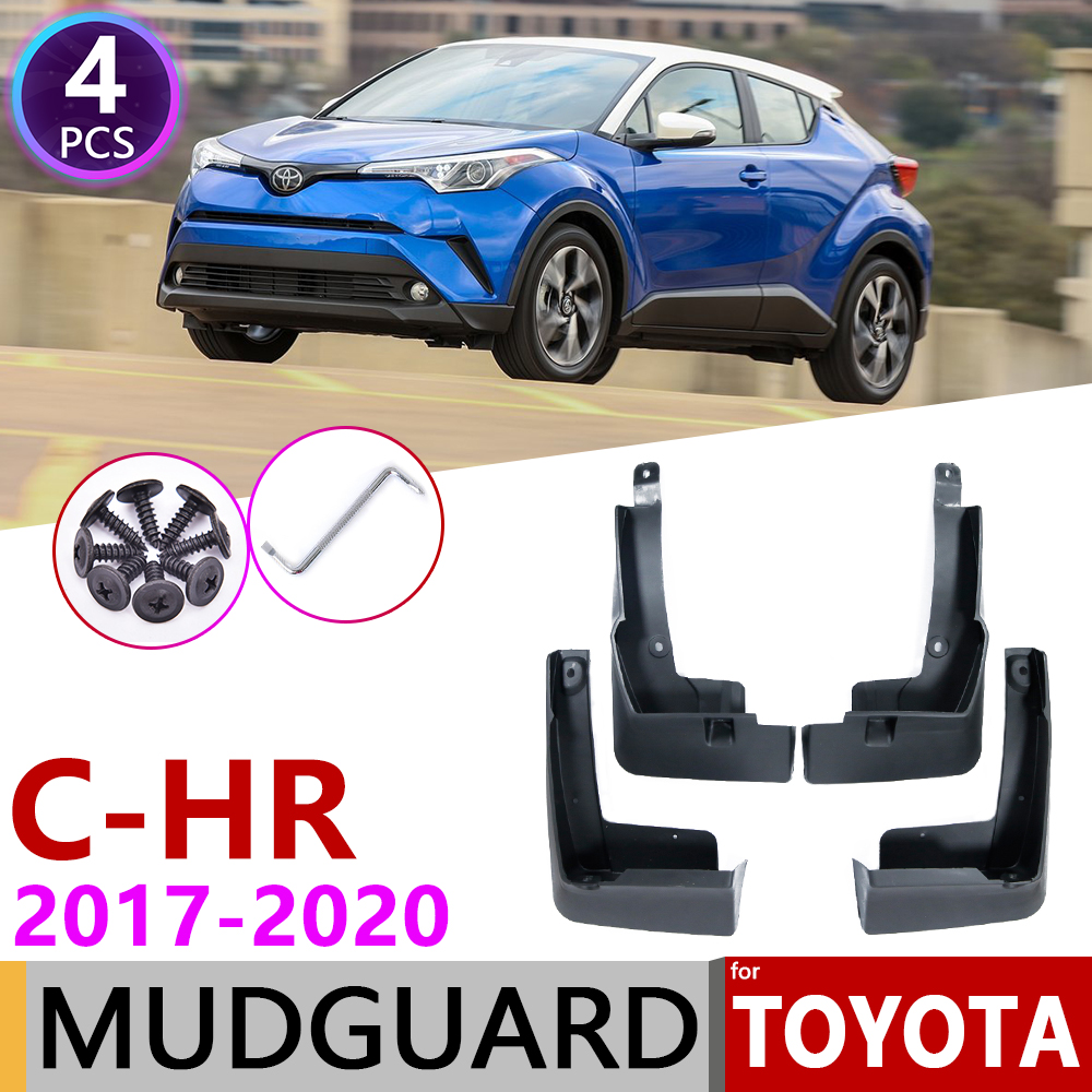 4PCS Black ABS Mud flaps Mudguard Dirt Fender Cover For Toyota C-HR CHR 2018