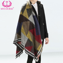 MYCOURSE Winter Autumn Scarf Casual Oversize Blanket font b Tartan b font Plaid Stole Designer Women