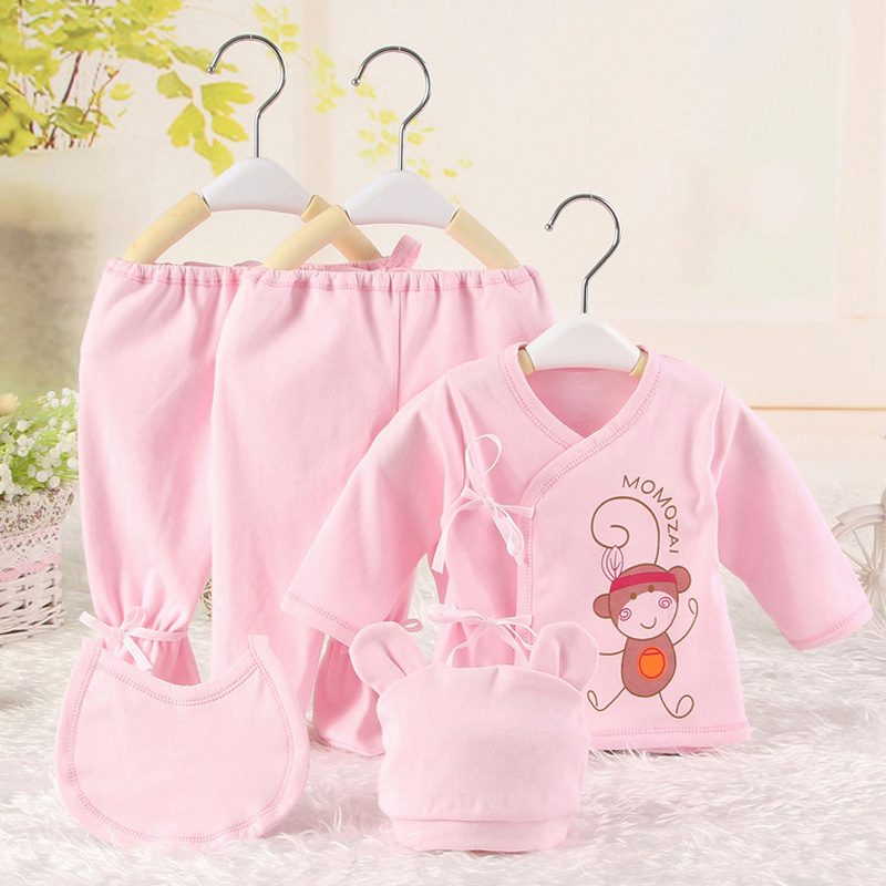 5Pcs/Set Baby Clothes Set For 0-3M Cartoon Korean Baby Clothes Newborn Baby Girl Clothing Set Infant Baby Boy Outfits