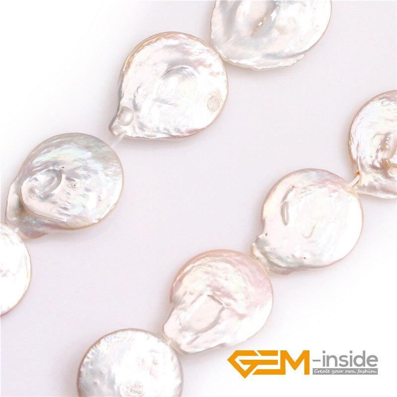 23x26mm & 22x28mm grande pièce naturelle perles de culture d'eau douce perles bricolage perles en vrac pour la fabrication de bijoux brin 15 pouces!