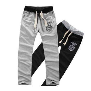 2015 Nuevos Hombres Pantalones Casuales/pantalones masculinos flojos Loungewear y ropa de dormir, Negro y Gris, Más tamaño M-XXL