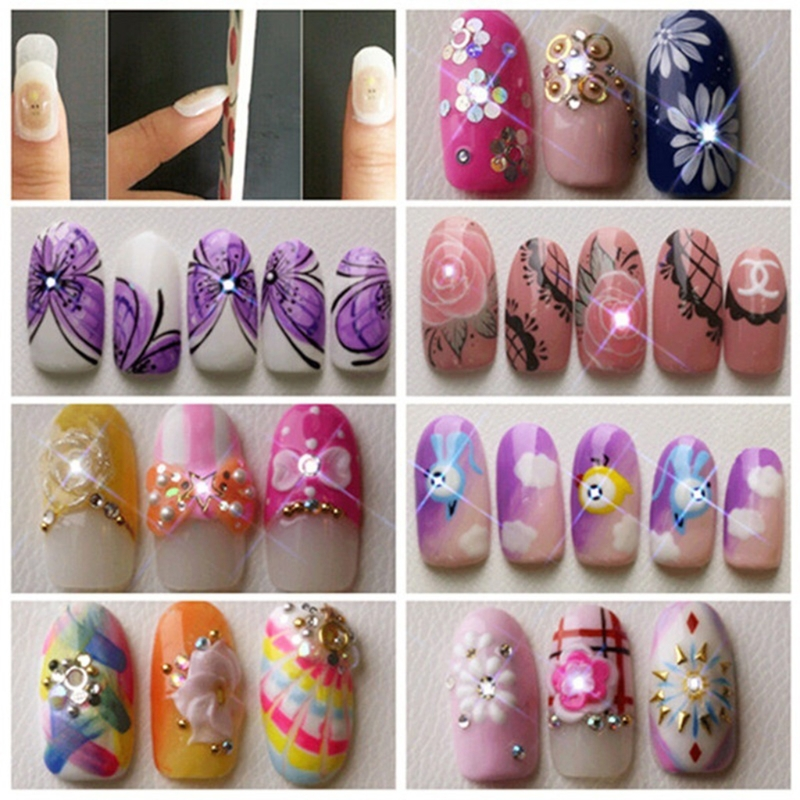 Fashion Nail Stickers LED light Flash Affixed Scintillation Cell ...