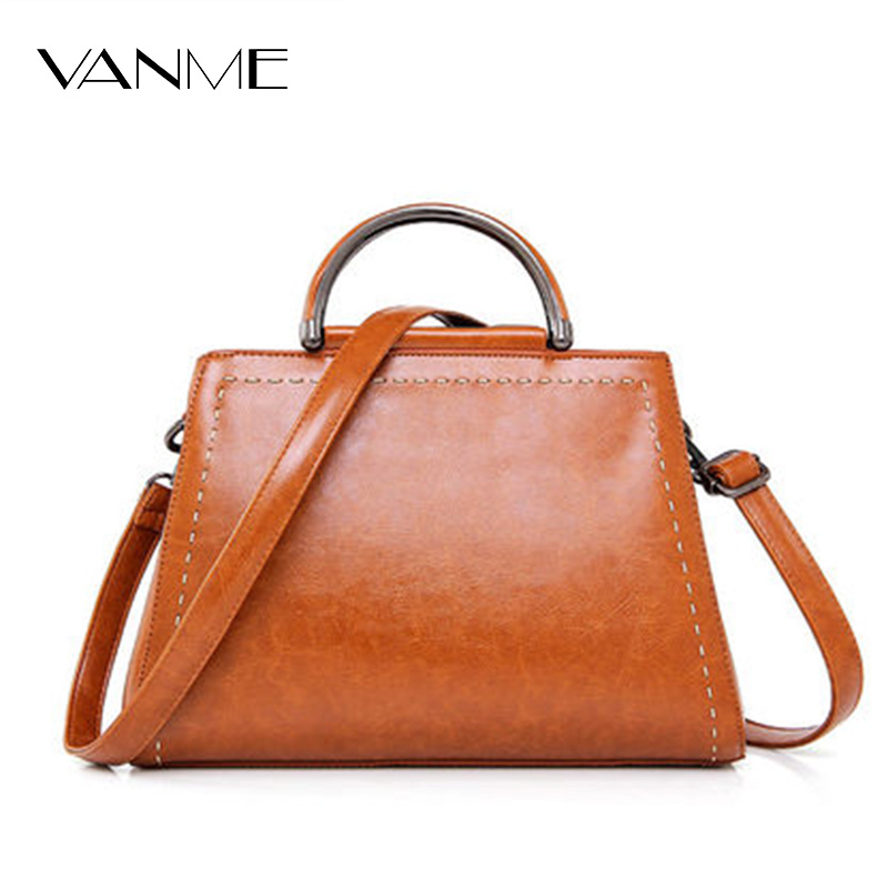 Hot Retro Split Leather Handbag Classic Tote Bags Fashion Shoulder Bag Wine Red/Brown/Black/Blue/Pink Bolsa Feminina Vintage Bag