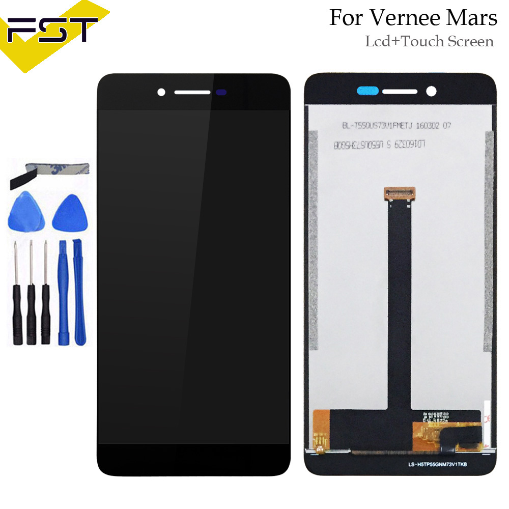 Black For Vernee Mars LCD Display and Touch Screen Digitizer Assembly Repair Parts For Vernee Mars Phone Accessory+ToolsBlack For Vernee Mars LCD Display and Touch Screen Digitizer Assembly Repair Parts For Vernee Mars Phone Accessory+Tools
