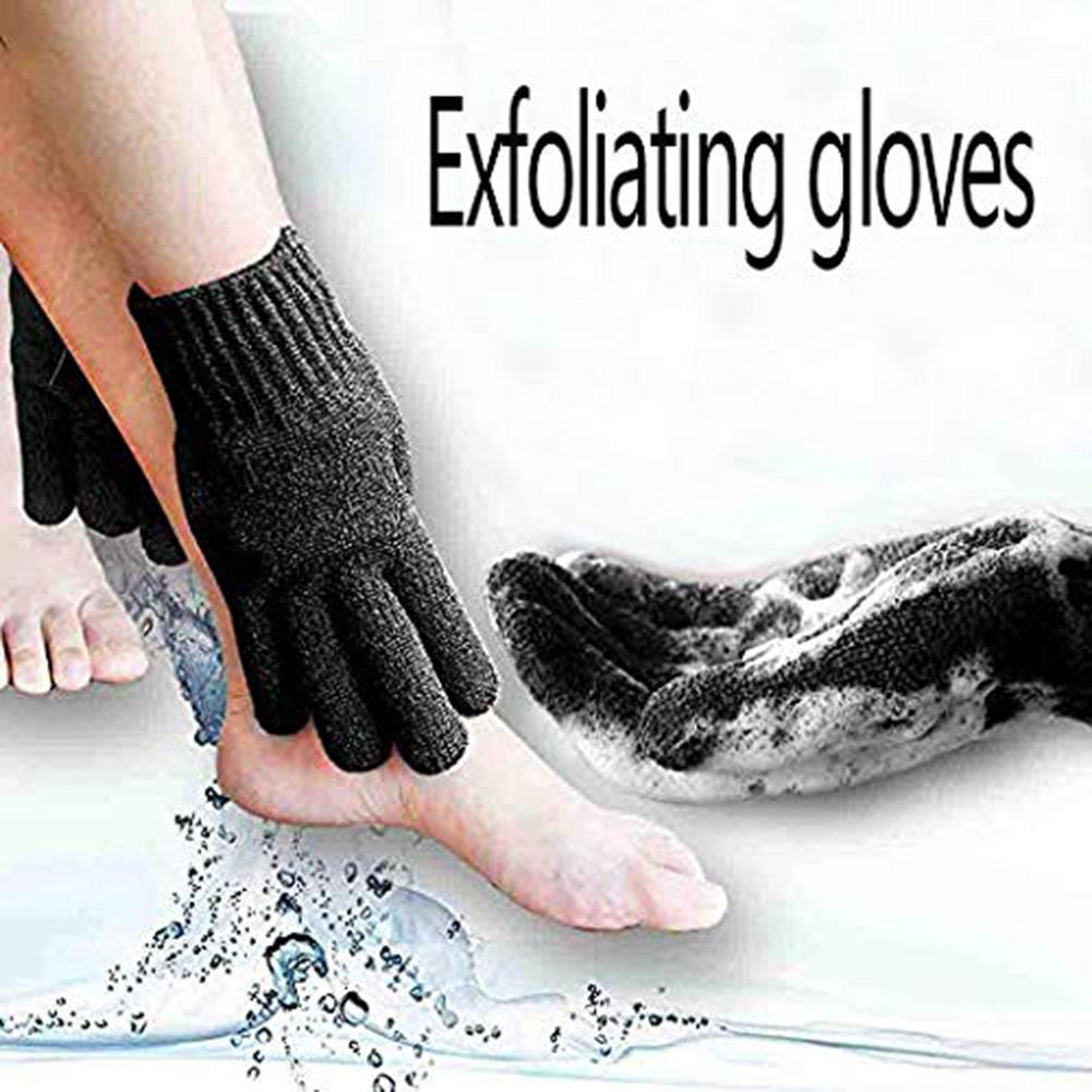 1Pc Shower Bath Exfoliating Wash Skin Care Spa Massage Nylon Body Scrubber Glove Bath Beauty Tool
