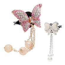 LEEPEE Solid Fragrance Air Freshener Artificial Crystal Car Vent Perfume Car-styling Cute Butterfly Shape