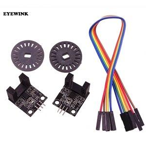 Фотоэлектрические датчики, 2 комплекта, модуль измерения двойной скорости для проверки скорости вращения двигателя, фотоэлектрические дат...