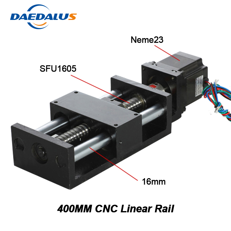 Cnc Part Linear Rail Linear Stage Actuator Table 400mm Travel Length Mould For Diy Cnc Router Machine Tool X Y Z Axies 2017 julius brand ladies women dress watches thin quartz watch steel mesh band luxury gold bracelet wristwatch relogio feminino