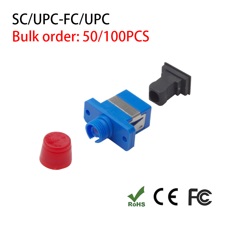 SC/UPC-FC/UPC Fiber Adapter Connector Simplex Single Fiber Coupler