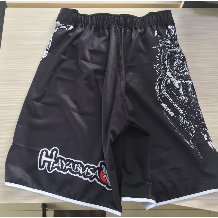 White dragon Eagle subtitles sports breathable cotton loose boxing training pants mma short kickboxing shorts short muay thai