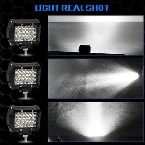 Image 3 - 4 Inch 72W Four Rows Led Light Bar 12V 6000K Car Work Light Daytime Running Lights Modified Off Road Roof Light Car Decoration