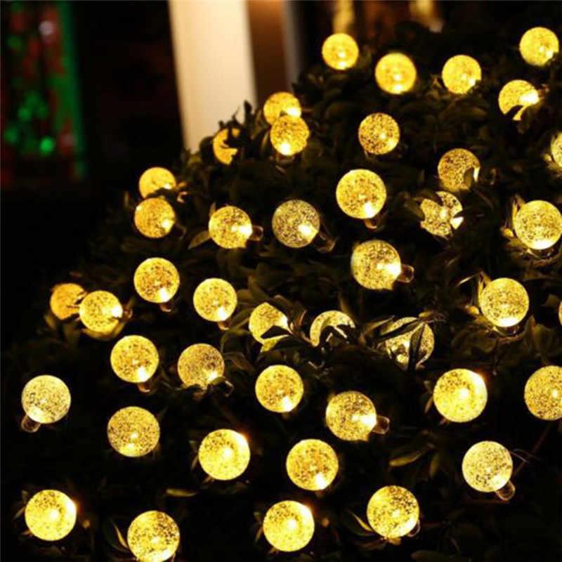 ECLH Солнечная лампа 10 м 50Led хрустальный шар Глобус luz водонепроницаемый теплый белый Сказочный светильник садовое украшение наружная Солнечная светодиодная гирлянда