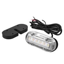 Luz LED subacuática de 12V, iluminación de popa para yate marino, accesorios para barcos a prueba de agua