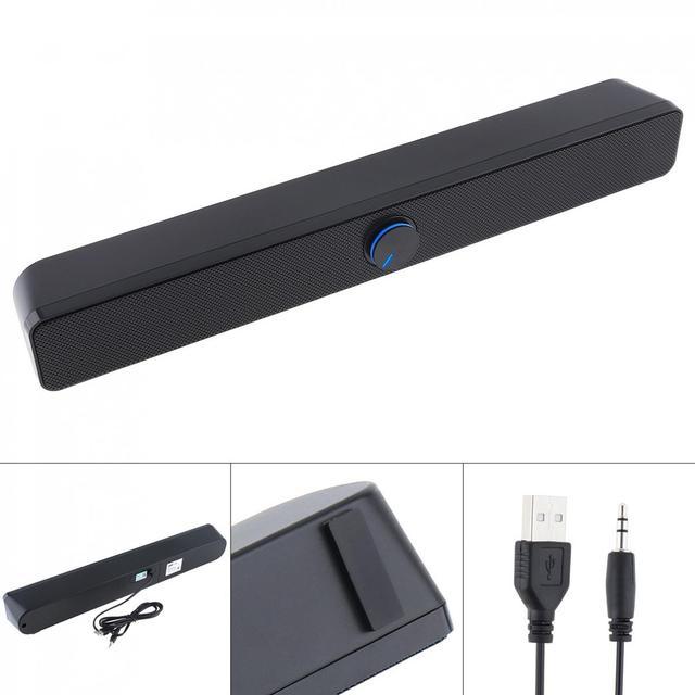 SADA V  193 Desktop Strip Soundbar Subwoofer Speaker with 3.5mm Stereo Jack and USB Powered for PC / Laptop / Mobile Phone
