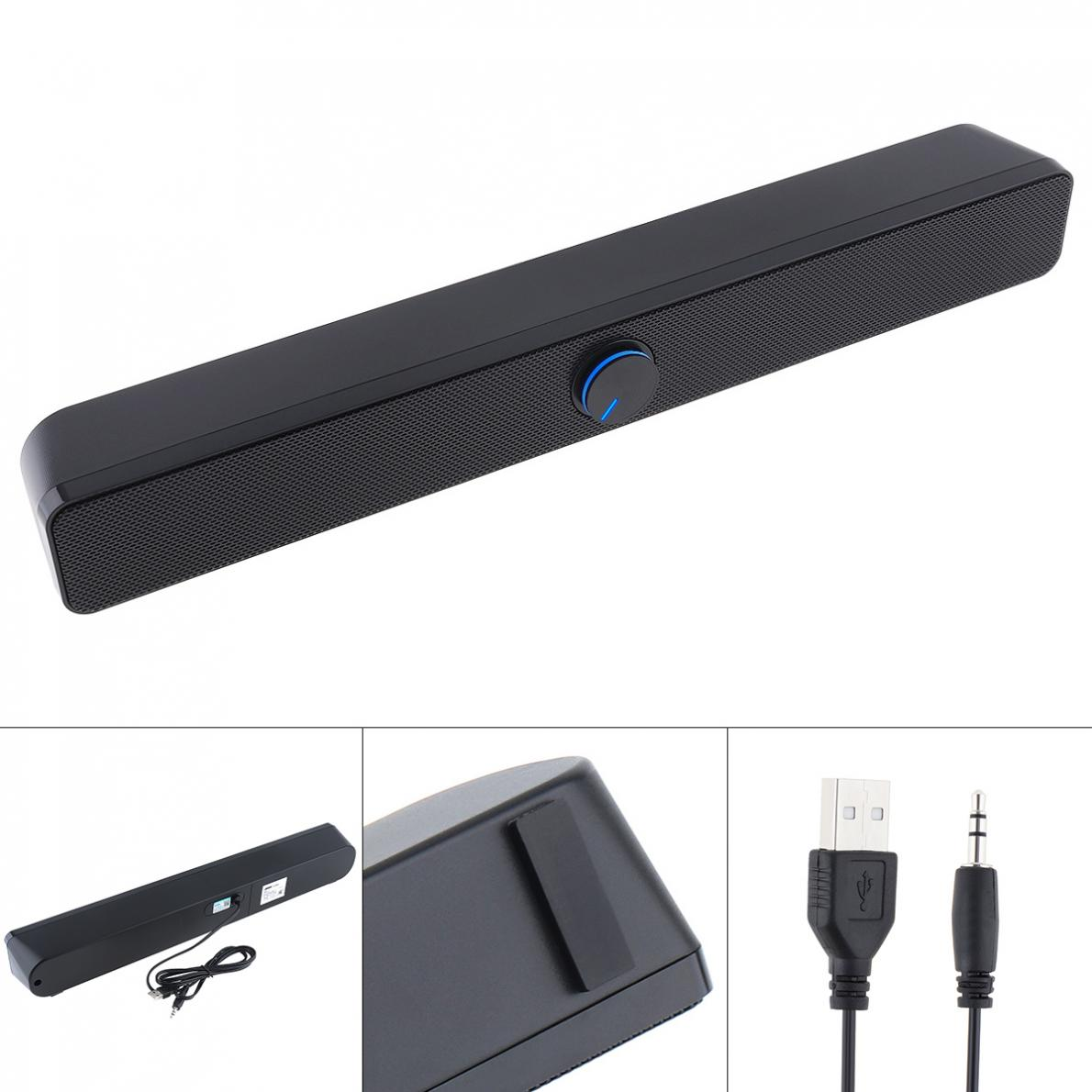 SADA V -193 Desktop Strip Soundbar Subwoofer Speaker with 3.5mm Stereo Jack and USB Powered for PC / Laptop / Mobile Phone