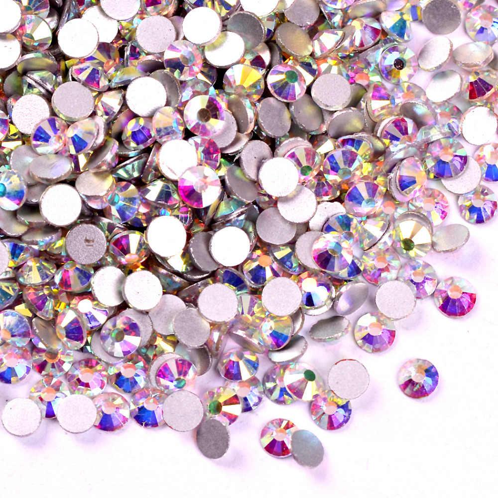 ... Polaris Glitter Glass DMC Rhinestones Crystal AB ss2-ss50 Non Hot Fix  FlatBack Strass Rhinestone ... c572d09ef5da