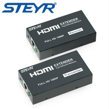 STEYR HDMI IR Extender 120m STEYR 400ft HDMI Network Extender RJ45 Single Cat 5 Cat6 Splitter