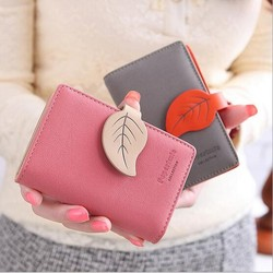 20 card leaf vintage women female ladies short thin organizador leather business credit card holder passport.jpg 250x250