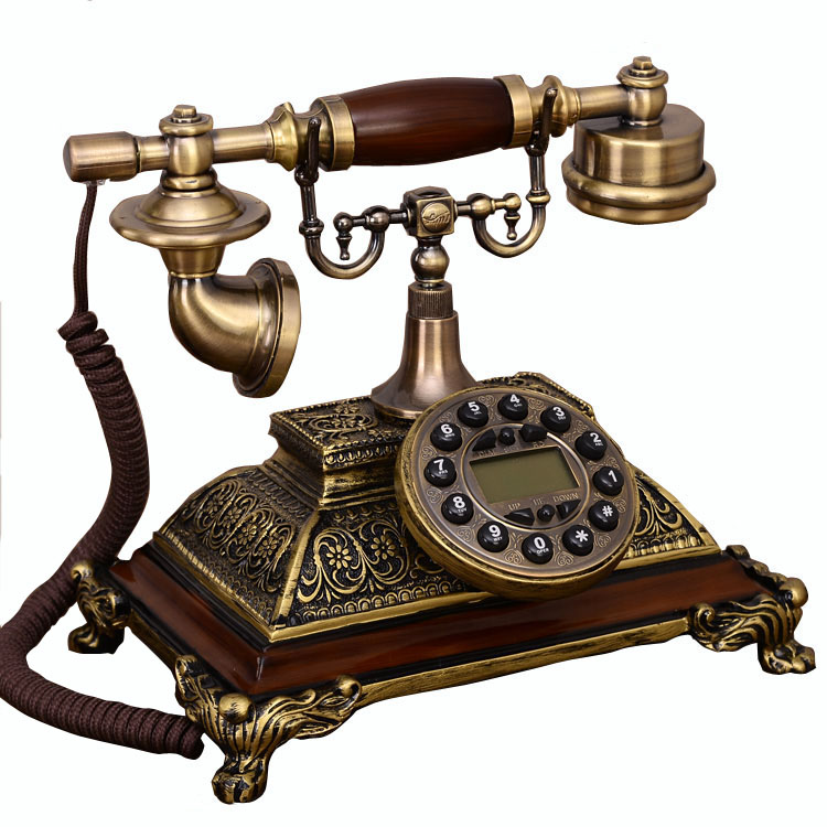 Antique Fashion Landline Phone made of resin European rilievo vintage Telephone For Office Home Hotel caller ID dispaly AN6