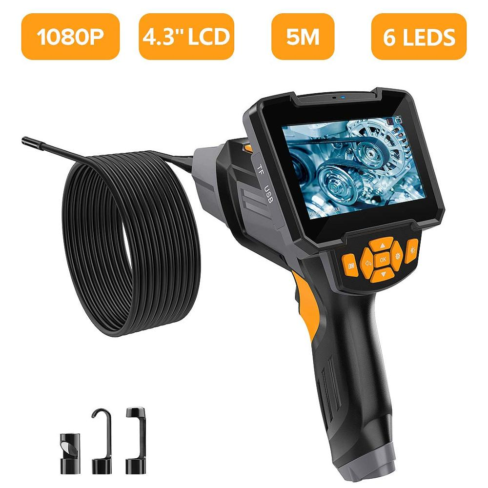LCD Digital Endoscope Camera Videoscope Inspection Industrial Auto Repair Tool Handheld Waterproof Endoscope for Android Iphone
