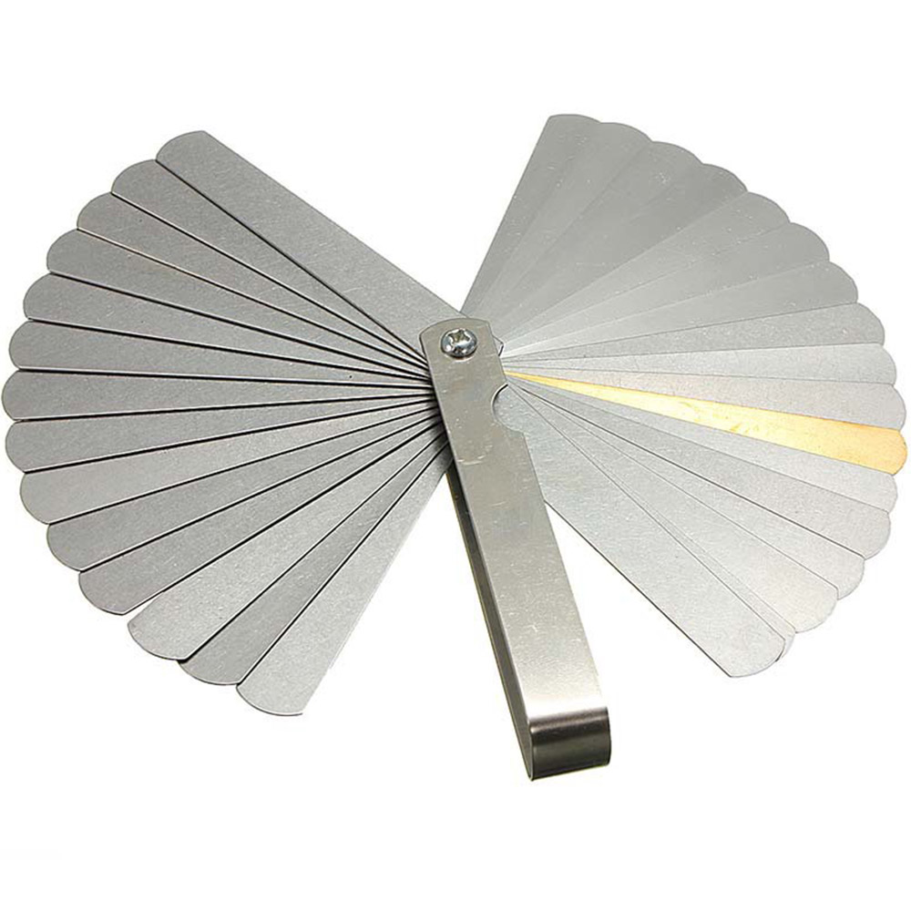 32 Pieces Rangefinder Feeler Gauge Valve Teaching Feeler Gauge 0.04-0.88 Mm Clearance Size.0015-.035 Copper Sheet