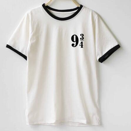 7cae8dcf Women Platform 9 3 4 Harry Potter t shirt 100% Cotton O-Neck Tees Shirts  Sports t-shirt Funny Custom t-shirt Free Shipping