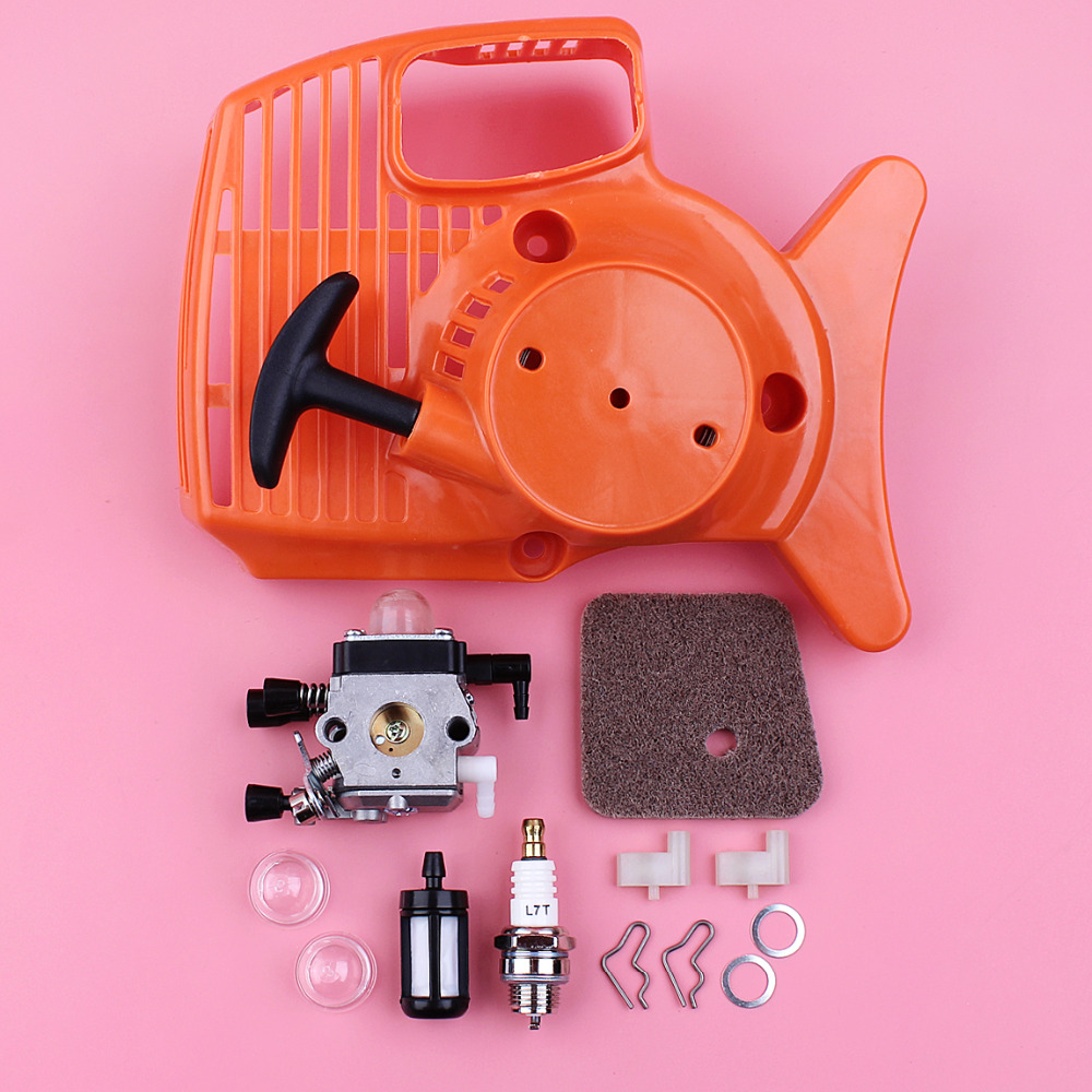 Recoil Starter <font><b>Carburetor</b></font> Air Fuel Filter Pawl Dog Spring Washer Kit <font><b>For</b></font> <font><b>Stihl</b></font> <font><b>FS38</b></font> <font><b>FS45</b></font> FS46 FS55 FC55 HL45 KM55 Trimmer Parts image