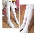 Fashion Girls Pantyhose Child Ballet Pantyhose Princess Socks Grid Cutout 100% Cotton Dance Female Child Knitted Socks