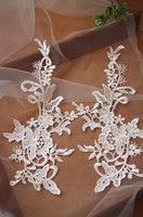 10 pcs ivory lace applique with retro flowerDGDH036