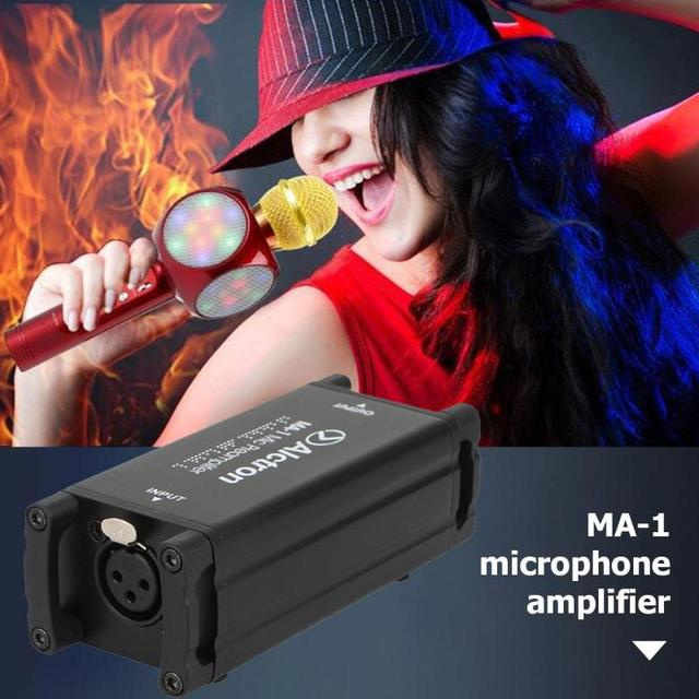 Alctron MA-1 Portable Anti-Drop Buffer Microphone Voice Amplifier Booster Aluminum  Microphone Headset Handheld 1