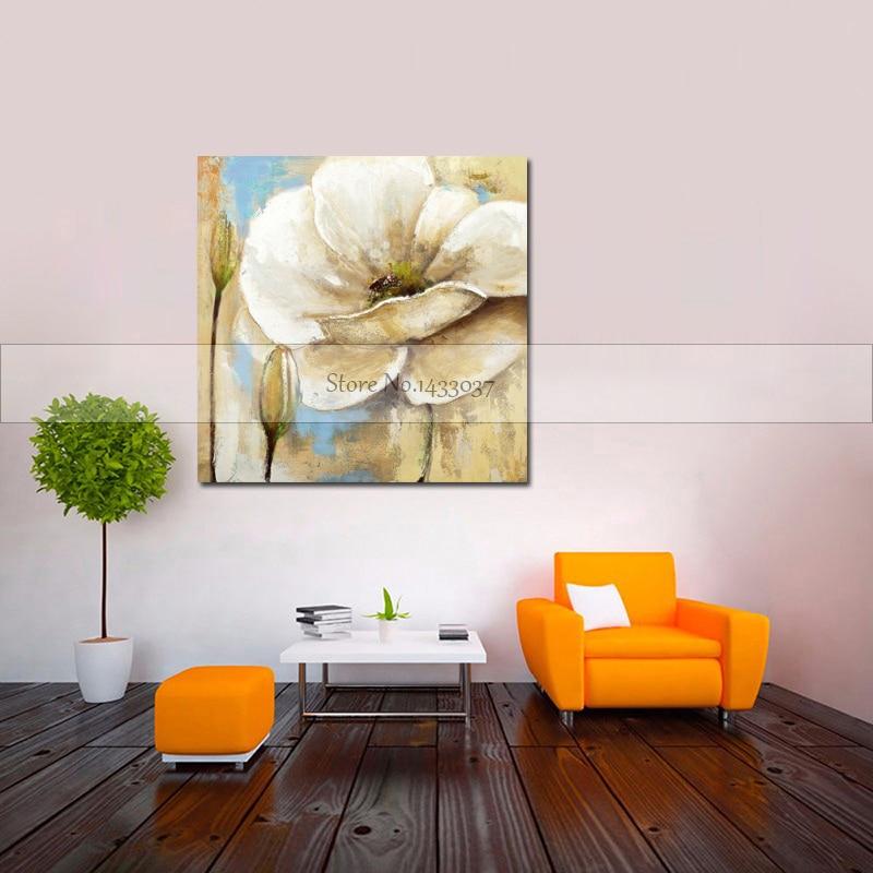 100% Piktura me Mure Abstrakte Piktura Për Dhomën e Jetesës Lule - Dekor në shtëpi - Foto 3