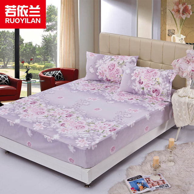 Home Bedding Sheet Printing Fitted Bed Sheet With 360 Degree Elastic