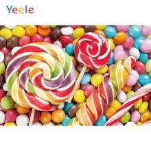 Yeele Colorful Candy Baby Newborn Birthday Party Photographic Backgrounds Customized Photography Backdrops For Photo Studio kate newborn baby backdrops colorful chocolate beans photo sweet candy for children large size seamless photo