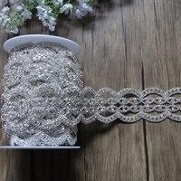 100 ярдов кристалл обрезка цепочки из горного хрусталя Свадебные Sash Роскошные стекло Аппликация Швейные аксессуары для одежды ремесла