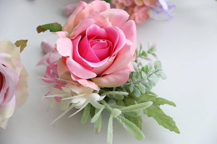 pink wrist corsage boutonniere wedding  (4)