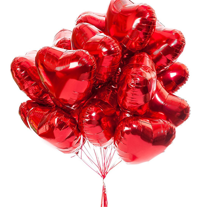 10pcs <font><b>18</b></font> Inch Rose Gold Red Foil Heart Balloons Marriage Helium Inflatable Balloon Metallic Wedding Birthday Party Decor Gifts image