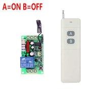 3000m AC 220V 110V 1 CH 1CH RF Wireless Remote Control Switch System 315 433 92