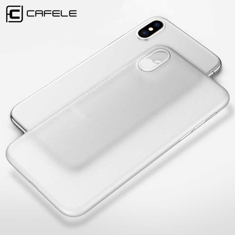 Cafele ماتي جراب هاتف لابل آيفون X حافظة PP المواد المضادة للبصمة رقيقة جدا 0.4 مللي متر PP حافظة لهاتف آيفون X