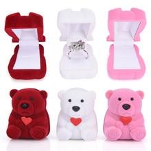 Case Organizer Earring-Bracelet Jewelry Display-Box Wedding-Ring Velvet Bowknot 1pc Valentine's-Day-Gift