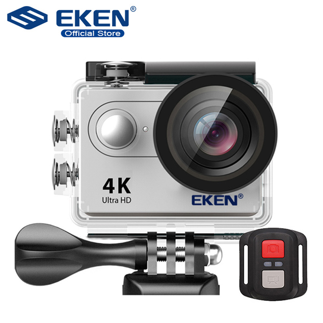 """Ultra HD 4K WiFi Action cam with 2.4G Remote Control 2.0"""" screen 30M waterproof sport mini cam"""