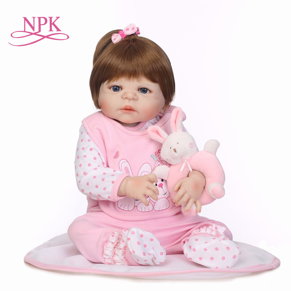 Newborn Full Body Silicone Bebe Doll Reborn 22Inch Vinyl Realistic Collectible Doll Reborn Baby Simulator Dolls