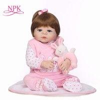 Newborn Full Body Silicone Bebe Doll Reborn 22Inch Vinyl Realistic Collectible Doll Reborn Baby Simulator Dolls For Girls Toys