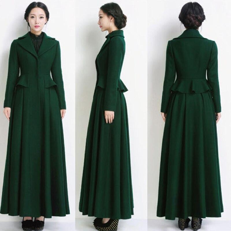 rojo abrigo Cashmere mujeres coreano verde lana vino Invierno negro wT0qB cef1a28dccb9