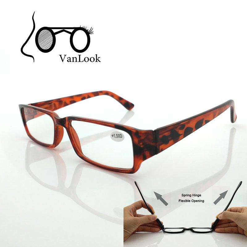 Kvinnor Läsa glasögon för män Visionspoäng Klar Farsightedness Glasögon Spring Hinge +100 +150 +200 +250 +300 +350 +400