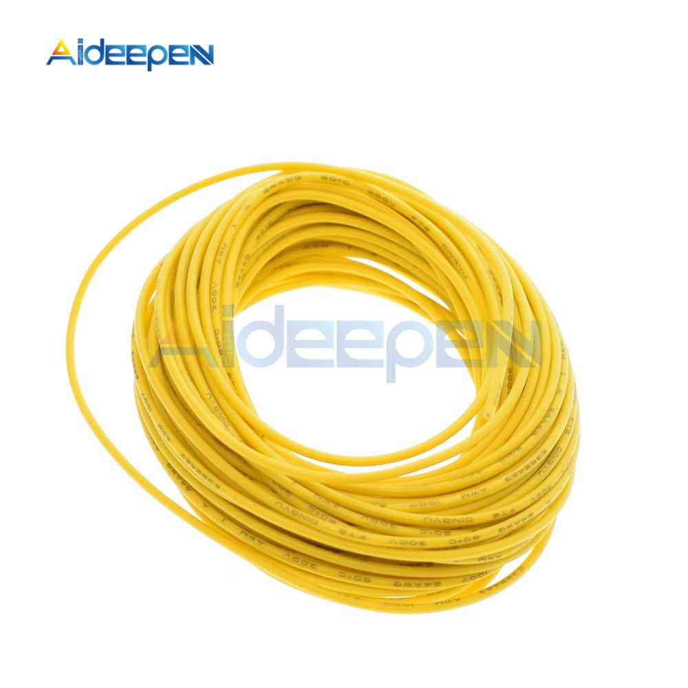 10 メートル UL-1007 ワイヤー 24AWG PVC 絶縁電線電気ケーブルフックアップワイヤー 300V コード赤/黒 /ブルー/イエロー